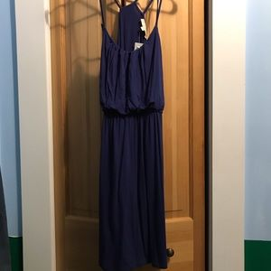 Ann Taylor LOFT strappy cami dress blue S